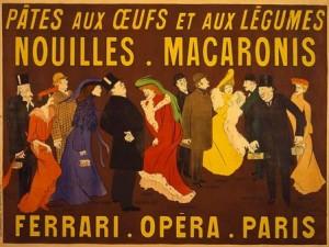 Affiche pour les Nouilles - Macaronis Ferrari (1903)